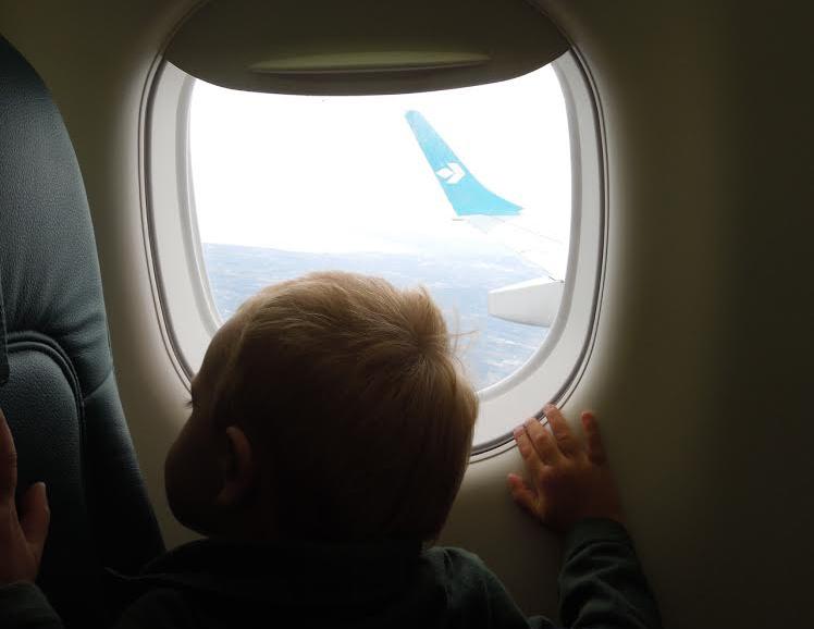volare in aereo con i figli